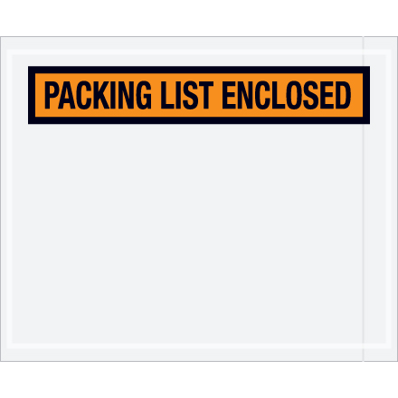 Packing List Envelopes