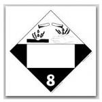 DOT 4 Digit Placards - Class 8