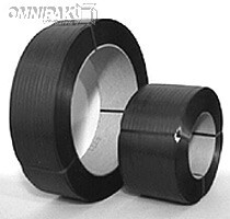"""1/2"""" Black 300lb Poly Strapping 8x8"""" - 9000'/cl"""