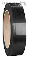 "5/8"" Black 1050lb Polyester Strapping. 16x3"" - 1800'/cl.x2"