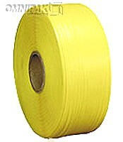 "1/4"" Yellow 200lb Poly Strapping. 9x8"" - 20000'/cl"