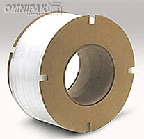 """1/2"""" White 350lb Poly Strapping. 8x8"""" - 9900'/cl"""