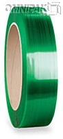 """5/8"""" Green 1400lb Polyester Strapping. 16x6 x 4000ft"""