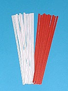 "4"" Red Paper Twist Ties 2000/bx"