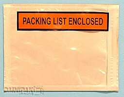 "7""x5-1/2"" Packing List Enclosed Envelopes 1000/cs"