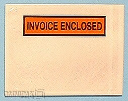 "5-1/2""x10"" Invoice Enclosed Envelopes 1000/cs"