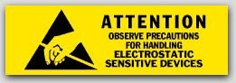 "5/8x2"" Attention Electrostatic Sensitive Devices 1000/rl"