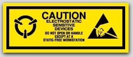 "2x5"" Attention Electrostatic Sensitive Devices Labels 1000/rl"