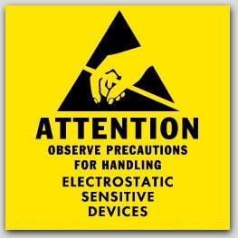 "2x2"" Attention Electrostatic Sensitive Devices Labels 1000/rl"