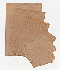 16-1/2x4x24 Brown Paper Merchandise Bags - 500/cs