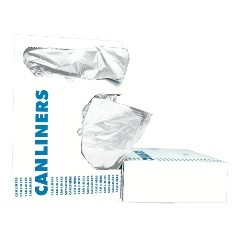 "38x58"" .60 Mil Gauge White Coreless Linear Low-Density Can Liners 100/cs"