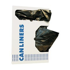 "40x46"" .50 Mil Gauge Black Coreless Linear Low-Density Can Liners 250/cs"