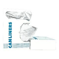 "43x47"" .60 Mil Gauge White Coreless Linear Low-Density Can Liners 100/cs"