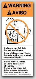 "2-1/2x6"" Labels Warning Childern Can Fall Into 500/rl"