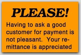"""1x1-1/2"""" Remittance Is Appreciated Labels 500/rl"""