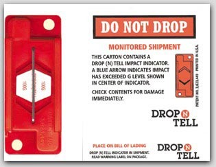G10 Drop N Tell Damage Indicators Recommended for Sturdy Electronic Equipment
