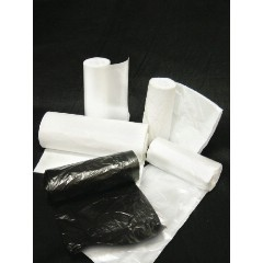 """33x40"""" 12mic HDPE Trash Can Liner Bags Clear 500/cs"""