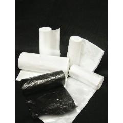 """38x60"""" 22mic HDPE Trash Can Liner Bags Black 150/cs"""