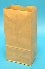 #6 Brown Heavy Duty Grocery Bags 6x3-5/8x11 - 500/Bale