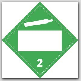 Non-Flammable Class 2 Polycoated Tagboard Placards 25/pkg