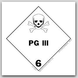 "4x4"" Class 6 PG III Vinyl Labels 500/rl"