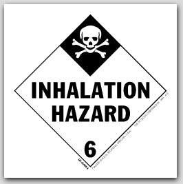 "4x4"" Class 6 Inhalation Hazard Paper Labels 500/rl"