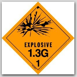 "4x4"" Class 1.3g Explosives Paper Labels 500/rl"