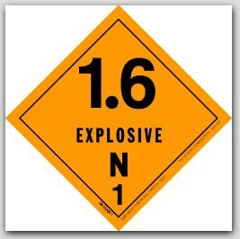 "4x4"" Class 1.6n Explosives Paper Labels 500/rl"