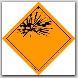 "4x4"" Blank Explosives Paper Labels 500/rl"