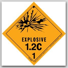 "4x4"" Class 1.2c Explosives Paper Labels 500/rl"