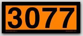 Placards 4-Digit Orange Panels. Removable Vinyl No. 3077 25/pkg