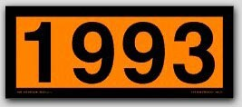 Placards 4-Digit Orange Panels On Tagboard No. 1993 25/pkg