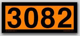 Placards 4-Digit Orange Panels. Removable Vinyl No. 3082 25/pkg