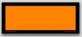 Placards 4-Digit Orange Panels On Tagboard 25/pkg