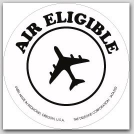 "4x4"" Air Eligible Vinyl Labels White and Black 500/rl"