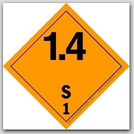 "4x4"" Class 1.4 Explosives Paper Labels S1 500/rl"