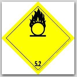 "4x4"" Class 5 Oxidizer and Organic Peroxide Vinyl Labels 500/rl"