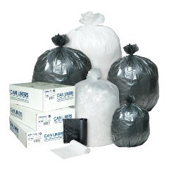 "24x33"" 6mic High-Density Trash Can Liners 12-16 gal 50bg/rl - 20rl/cs"