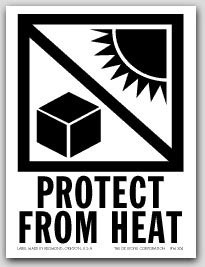 "3x4"" International Labels Protect From Heat 500/rl"