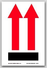 "3x4"" International Arrow Up Labels 500/rl"