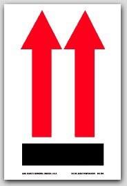 "4x6"" International Arrow Up Labels 500/rl"