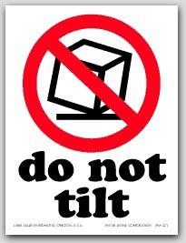 "3x4"" International Labels Do Not Tumble 500/rl"