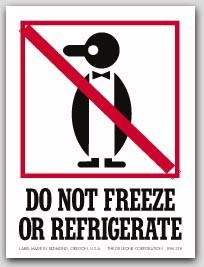 """4x6"""" International Labels Do Not Freeze Or Refrigerate 500/rl"""