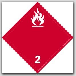 Gases Class 2 Polycoated Tagboard Placards 25/pkg
