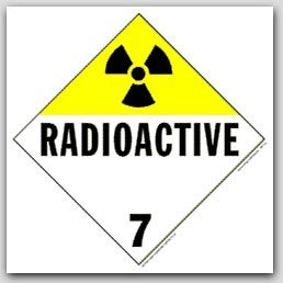 Radioactive Class 7 Self Adhesive Vinyl Placards 25/pkg
