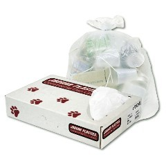 "30x37"" 20-30gl 10mic High Density Trash Can Liners 500/cs"