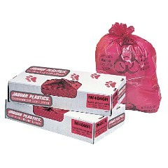 "40x46"" Red 1.3-mil Infectious Waste Trash Bags 100/cs"
