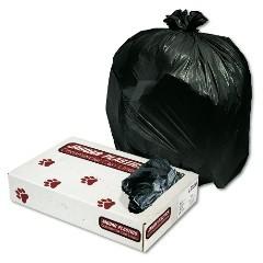 "38x58"" Black .35-mil Trash Bags Bulk Pack 100/cs"
