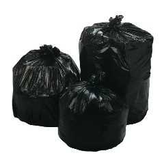 "33x39"" 33gl 1.5 mil Black Trash Can Liners 150/cs"