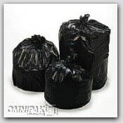 "38x58"" 60gl 2.0mil Black Trash Can Liners 100/cs"